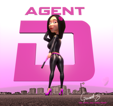 """Agent D"" character poster"